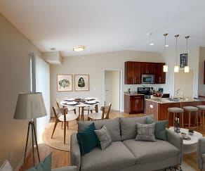 Living Room, The Gardens Apartments