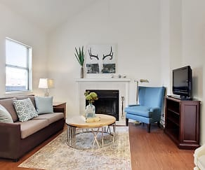 Living Room, Union Hill on Main Apartments