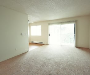 Living Room, Falls Pointe Apartments
