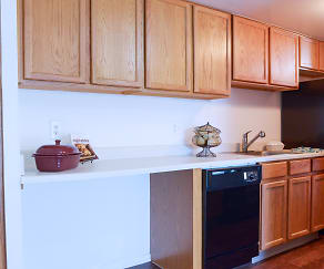 Kitchen, The Palms East Apartments