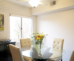 Dining Room, Cliffside Manor Apartments