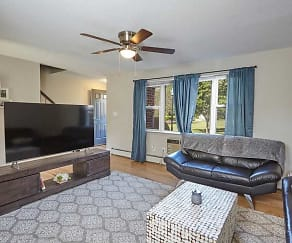 Living Room, Colonial Village Apartments