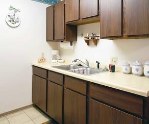 Kitchen, Julia Manor Apartments