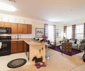 Kitchen, 1200 Acqua Luxury Apartments