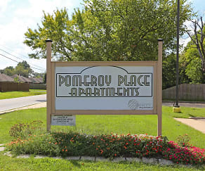 Community Signage, Pomeroy Place Apartments