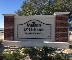 Community Signage, Maison D Orleans