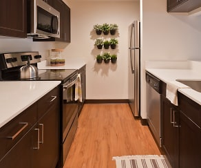 State-of-the-art kitchens with quartz countertops, Sharples Works