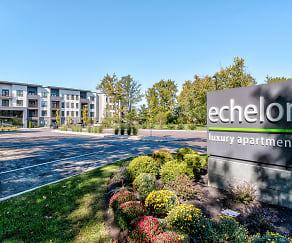 Community Signage, Echelon Luxury Apartments