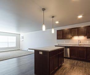 Kitchen, Arbor Court Apartments