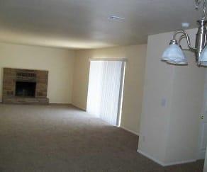 Flat Duplex Wood Burning Fireplace, Living Desert Apartments