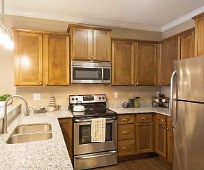 Kitchen, The Flats at Cedar Grove Apartments