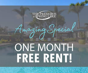 Don't miss out on our amazing special! Some restrictions apply. Please call the office for details., The Preserve at Spring Lake