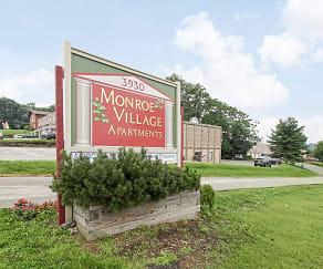 Community Signage, Monroe Village Apartments