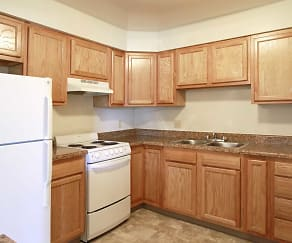 Kitchen, Colonial Gardens & Cherbourg Apartments