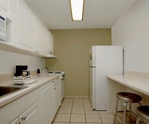 Kitchen, Furnished Studio - San Antonio - Colonnade - Medical