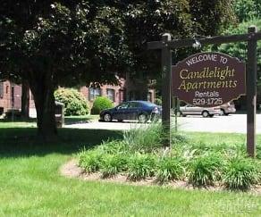 Community Signage, Candlelight Apartments