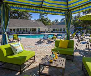 Relax by the pool under the poolside cabanas., Avalon Shores