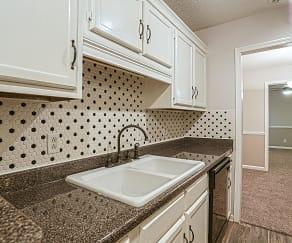Kitchen, Village South & Villa Adrian Apartments