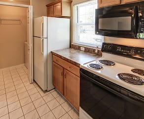 Kitchen, Country Club Manor Apartments