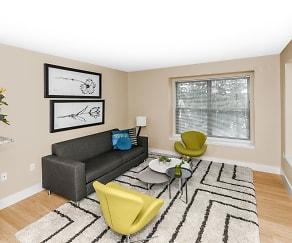 Living Room, 304 River Edge Lofts