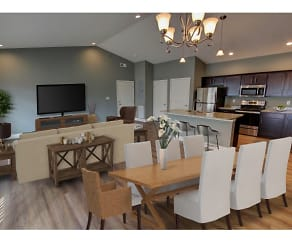 Open floor plans with room for entertaining, Mill Hollow Apartments