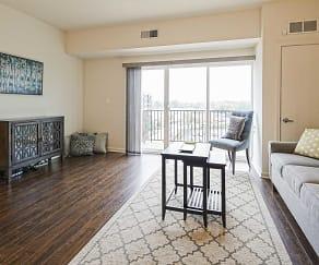 Living Room, Cardinal Square Rental Community