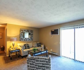 Living Room, Hillbrook Apartments