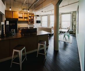 Kitchen, The Cannery Lofts