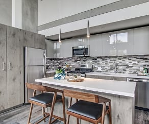 Kitchen, The Mansfield at Miracle Mile