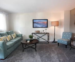 Living Room, Parkside Gardens Apartments & Townhouses