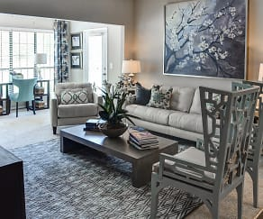 Living Room, Falls At Spring Creek Apartment Homes