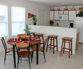 Dining Room, Mt Tabor Village Apartments