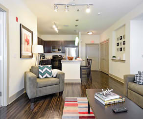 Living Room, The Domain At Waco Student Apartments