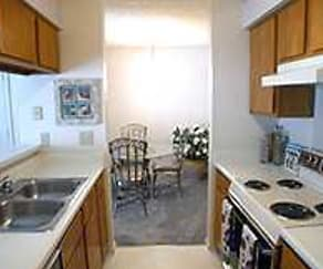 Kitchen, Riverbend Apartments