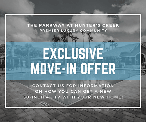 Community Signage, The Parkway at Hunter's Creek Apartments