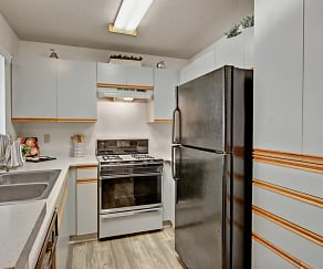 Galley Kitchen with Tons of Storage, Castlepark Resort Apartments