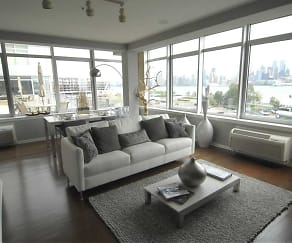 Living Room, Rivers Edge at Port Imperial