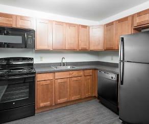 Kitchen, Carlton Apartments