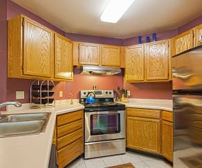 Kitchen, Maple Grove Apartments