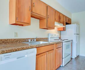 Kitchen, Country Club Apartments