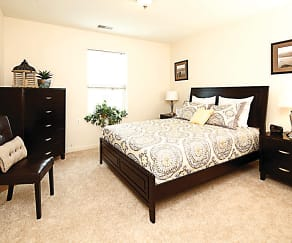 Bedroom, Fairfield Village Senior Apartments