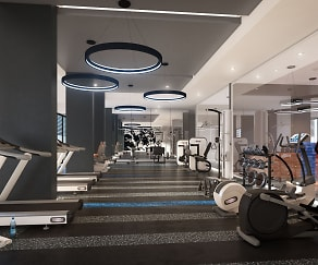 Fitness Weight Room, Eon Flagler Village
