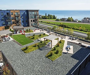 4,800 SF Amenity Deck overlooking Lake Superior, ENDI