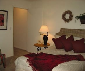 Bedroom  at the Oak Pointe Apartment Homes in Simpsonville , SC, Oak Pointe Apartments