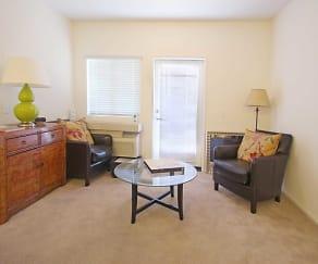 Living Room, Harbor Grove Senior Apartments 55 Plus Community