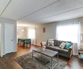 Living Room, The Commons Apartments
