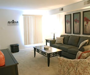 Living Room, Warson Village Towne House Apartments