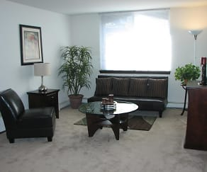 Living Room, Lake Terrace Apartments