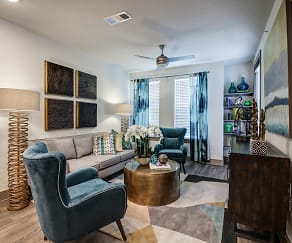 Living Room, Enclave at Woodland Lakes