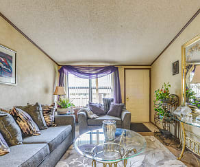 Living Room, Willowwood Apartments